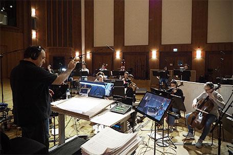 Joe Kraemer conducting on Stage A.