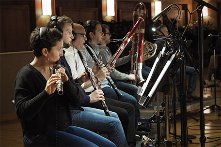 Synchron Stage Orchestra's woodwinds section