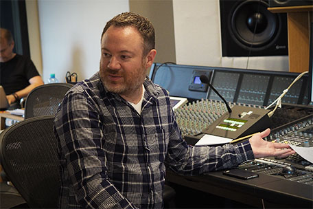 Casey Stone behind the SSL console