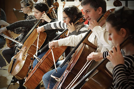 Synchron Stage Orchestra's cello section
